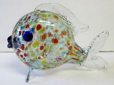 VINTAGE MURANO HAND BLOWN ART GLASS FISH  MID-CENTURY