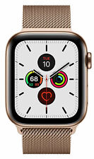 Apple Watch Series 5 44 mm Case with MilaneseLoop - Gold-Tone Stainless Steel (GPS + Cellular) (MWWJ2X/A)