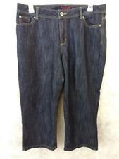 Wrangler capri jeans womens size 14 M dark wash cotton blend 38 x 22