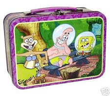 SpongeBob Squarepants Tin Storage Lunch Box Carry All Pencil Crayons Colors Case
