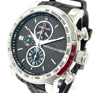 GRAHAM 2MEBS.B02A Mercedes GP Silver Stone Chronograph Date Automatic Wristwatch