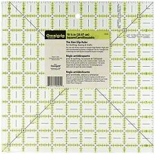 Omnigrid Omnigrip Neon Green 10 1/2 inch x 10 1/2 inch Square Ruler for Quilting