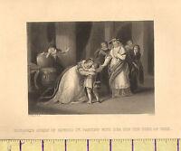 C1860 Vittoriano Stampa Elizabeth Regina Di Edward IV Parting Con Son Duca York