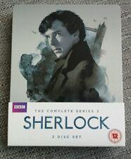 SHERLOCK SERIES 3 BLU RAY STEELBOOK - BBC RARE OOP - BENEDICT CUMBERBATCH!