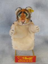 Mr Rogers Daniel Striped Tiger Steiff Hand Puppet NM 6880/17 rivet button