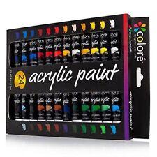 Wooden Brushes Tubes Acrylic Paints
