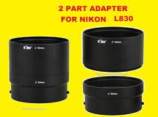 CAMERA LENS/FILTER ADAPTER TUBE TO> NIKON COOPLIX L810 L820 L830 L840 62mm