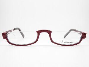 VINOVORM Glasses Lesebrillenrahmen half-brand Frames Red Unisex Accessory