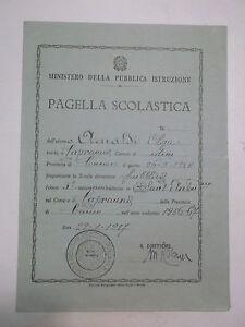 PAGELLA SCUOLA ELEMENTARE DI CAPRAUNA CUNEO 1956-57 10BIS-73