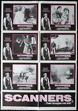 SCANNERS Original Australian Photo Sheet Movie poster David Cronenberg Horror