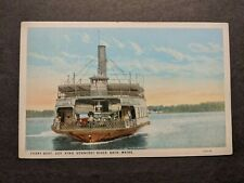 1927 Ferry GOVERNOR KING, KENNEBEC River, Bath, MAINE Naval Cover