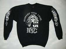 Support NYC Hells Angels LOCAL 81 SKULL medium SWEAT SHIRT NEW #skus