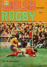 WELSH RUGBY MAGAZINE NOVEMBER 1979, ABERAVON, TUMBLE, ROMANIA TOUR, TALYWAIN