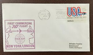 1970 New York to London Pan Am First 747 USA First Flight Airmail Cover