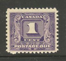 Canada #J6, 1930 1c Postage Due - Second Postage Due Series, Unused Hinged