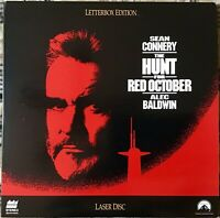 THE HUNT FOR RED OCTOBER LASERDISC SEAN CONNERY ALEC BALDWIN EXCELLENT PREOWNED