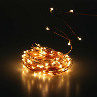 10M 100 LED Christmas Wedding Party Decor Outdoor Copper Wire Fairy String Light