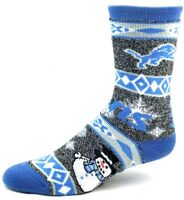 Detroit Lions NFL Football Ugly Holiday Snowman Sweater Crew Socks