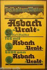 Bei kalten Wetter Asbach uralt Tee,Grog,Likör,Schnaps,orig.Werbe Anzeige 1937