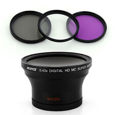 Albinar 58mm 0.43x Wide Fisheye Lens,Filters for Canon EOS Rebel T2i T4i 450D XT