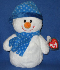 CHILLY the SNOWMAN - TY PLUFFIES - MINT TAGS - BARNES and NOBLE EXCLUSIVE