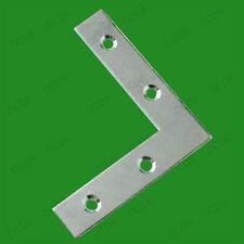 """8x de 75 mm (3 """") Flat esquina de ángulo recto placa de soporte de abrazadera, soporte de fijación de reparación"""