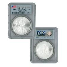 2010 American Silver Eagle PCGS MS70 25th Anniversary