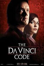 The Da Vinci Code movie poster - Tom Hanks, Audrey Tautou - 11 1/2  x 17 inches