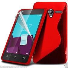 Étuis, housses et coques rouge en silicone, caoutchouc, gel pour téléphone mobile et assistant personnel (PDA) Alcatel