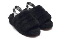 UGG Fluff Yeah Slide Black Fur Slipper Sandal Women's US sizes 5-11/NEW!!!
