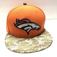 Denver Broncos NFL Salute To Service New Era 59Fifty Camo Fitted Hat Size 7-1/2