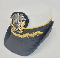 Vintage US Navy USN Officer Women Military Kingform Cap Cover Hat size 22