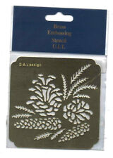 Brass / stencil/ Square / Pine / Cone / Leaf / Fern / Emboss / Embossing / Nice