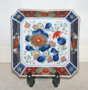 Canton, Imari colours square floral pin dish. Diameter: 15 cm; Ht: 3.5 cm. Ex.Co