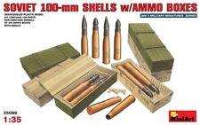 Kit Modelo min35088-Miniart 1:35 - Soviética 100mm conchas C / cajas de munición