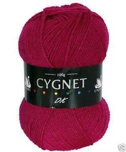 Acrílico Doble Punto Cygnet Dk Hilo/Lana 100g-134 Cereza