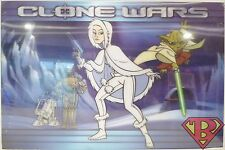 Padmé Amidala Star Wars The Clone Wars 3-D Animation Lenticular Poster #'d /500