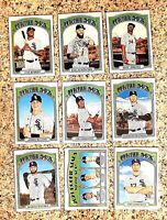 Lot of 9 2021 Topps Heritage White Sox Baseball cards, Luis Robert