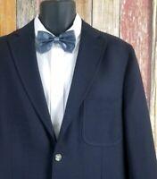 "Kroon Men's ""Mayer"" Wool Dark Blue Patch Pocket Jacket Sport Coat 42R Regular"
