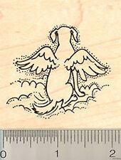 Dog Angel Rubber Stamp Wood Mounted G7003 puppy canine