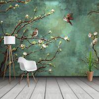 Pintado a Mano Pintura Al Óleo Flor Ave Foto Papeles Estudio Restaurante Fondo
