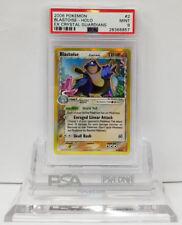 Pokemon EX CRYSTAL GUARDIANS BLASTOISE #2/100 HOLO FOIL CARD PSA 9 Mint #*
