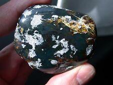 Beautiful BLUE Green Chiapas Mexican Amber Polished Gemstone LARGE 34 g RARE
