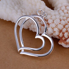 fashion hearts charm Pendant Sp108 Xmas wholesale sterling solid sliver