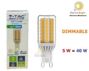 G9 Dimmable LED Bulb 5W Eco Energy Capsule Spotlight 220V Replace Halogen Bulbs