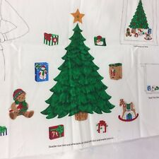 Christmas Panel Wall Hanging Applique Christmas Tree Bear Gift T Shirt Craft New