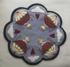 Penny Rug/Candle Mat PATTERN~*Up Up & Away!*~Snowman/Hot Air Balloons PATTERN