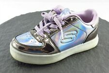 Skechers Toddler Girls 12 Medium Silver Fashion Sneakers Synthetic