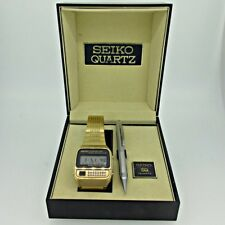 Vintage Seiko Quartz C359-5019E Stainless Steel Gold Tone Calculator Watch with