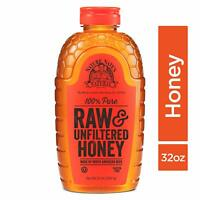 Nature Nate's 100% Pure Raw  Unfiltered Honey; 32-oz. Squeeze Bottle; Certified